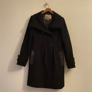 Black Wilfred cashmere and virgin wool coat